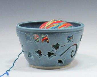Yarn Bowl - Mom Knitting Bowl - Pottery Yarn Bowl for Mom - Ceramic Yarn Bowl - Yarn Holder - Bowl for Holding Yarn - Bowl for Knitters