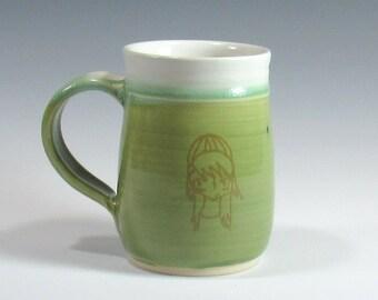 Large Handmade Pottery Mug