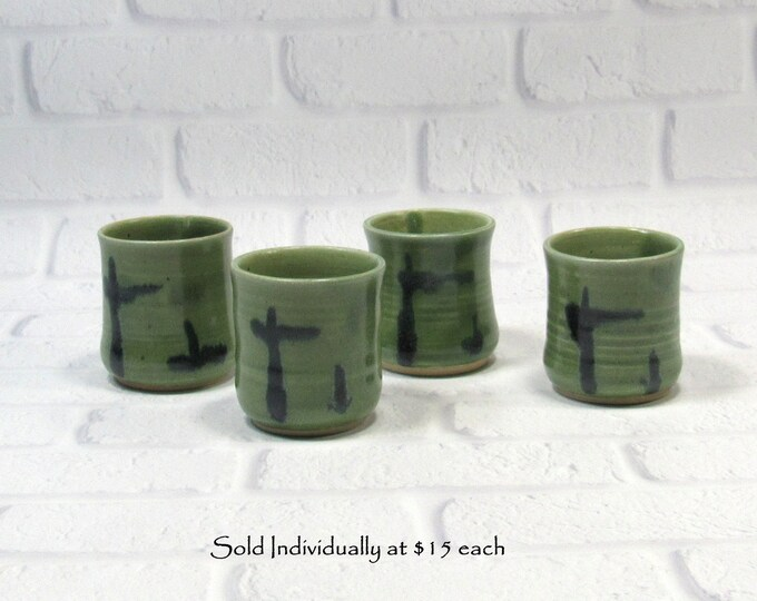 Featured listing image: Shot Glasses, Handmade Pottery