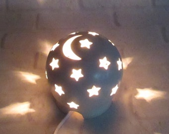 Nursery Lamp, Starry Nights Lamp, Mood Lighting, Night Light Kids Nursery, Nursery Decor, Baby Shower Gift