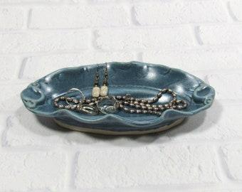 Jewelry Ring Dish - Dresser Valet - Candy dish - Trinket Dish - Oval Tray - Decorative Trinket Tray