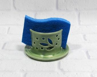 Sponge Holder - Pottery Sponge Holder - Kitchen Accessory - Sponge Caddy - Sink Caddy - Business Card Holder - Napkin Holder - Candle Holder