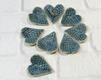 Tiny Heart Ring Dishes - Set of 8