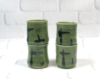 Set of 4 Shot Glasses, Barware Set