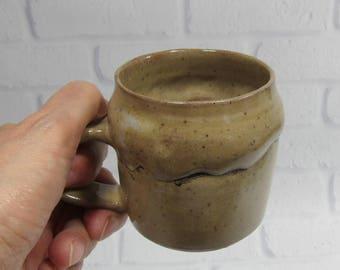 Coffee cup - espresso cup - cortado cup - tea cup - ceramic teacup - pottery coffee cup - brown cup