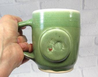 Coffee or Tea Mug - I Love To Knit Mug - Handmade Pottery