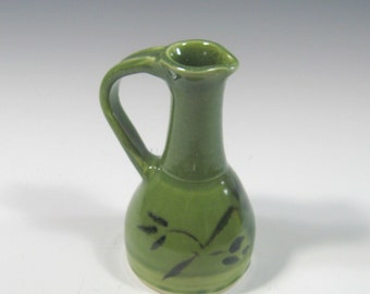 Small Pitcher - Pottery Pitcher - Jug -  Creamer - Salad Dressing Bottle - Olive Oil Bottle - Syrup Bottle - Drizzle Bottle - Ceramic  Cruet