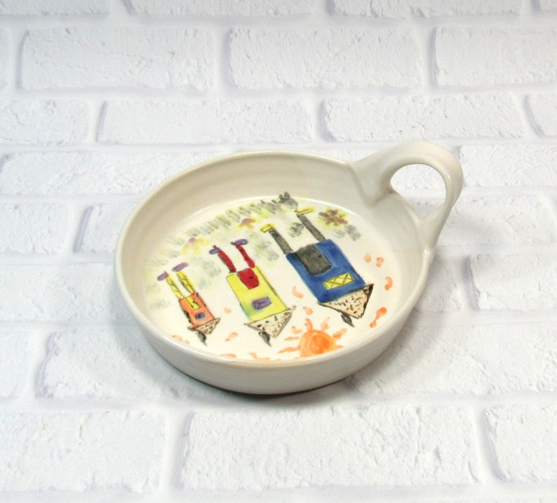 appetizer dish Brie Baker handmade pottery dip bowl cheese plate