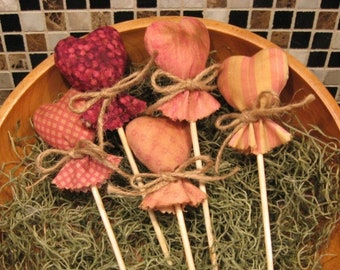 Primitive Pattern EPATTERN Folk Art Primitive Valentine Lollipop Hearts Tucks Ornies Bowl Fillers Primitive Pattern