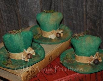Primitive Pattern EPATTERN Folk Art Primitive St. Patrick's Day Leprechaun Hat Tucks Ornies Bowl Fillers