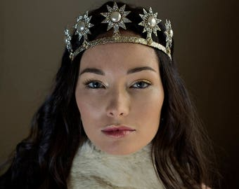 Starburst wedding crown, star tiara - Nova No. 2236