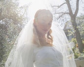 Falling For You Chapel blusher bridal veil No. 2321