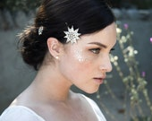 Starry Night Celestial Starburst bridal hairpins No. 2281
