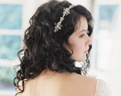 Wedding headband, pastel blush and green bridal headpiece - no. 2050