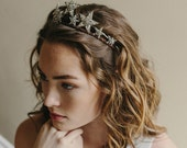 Star tiara, bridal crown, hair accessory, - Stargazer Style no. 1970