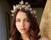 La Bell Epoque Bohemian butterfly bridal crown - no. 2256