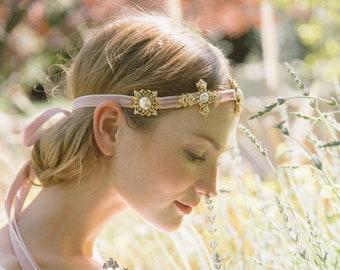 Love Charm jeweled filigree headband No. 2309