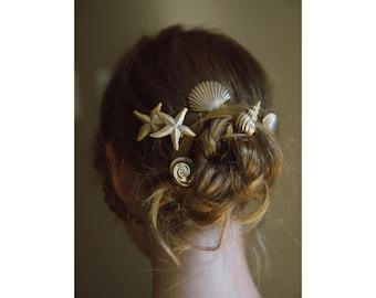 Venus sea Shell beach Wedding Hair Pins No. 2291
