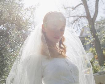 Falling For You Chapel blusher bridal veil No. 2321