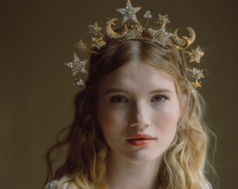 Phases Of The Moon Celestial wedding crown No. 2330