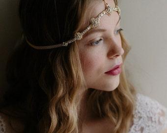 Wedding hair chain, bridal headpiece, crystal chain - It Girl no. 2095