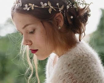 Wedding hair accessory, flower crown, bridal headpiece - Meadow no. 2091