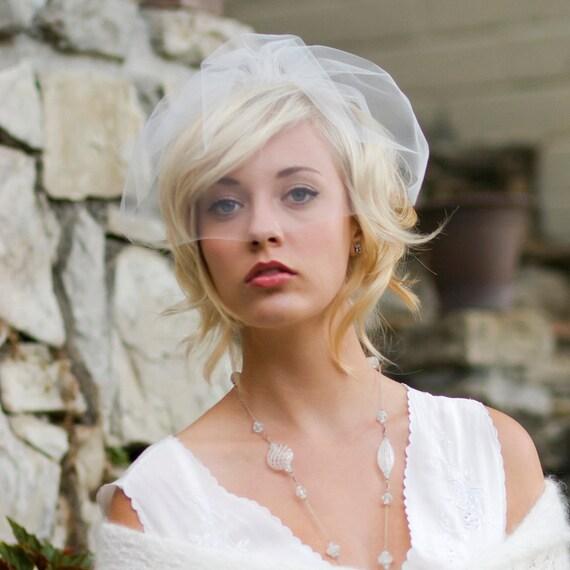 Wedding veil birdcage veil wedding hair accessory mini | Etsy