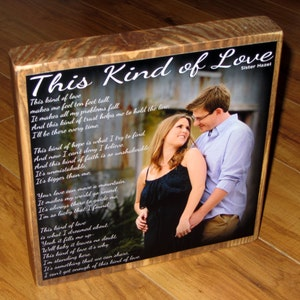 Custom made to order with poem quote or scripture Photo Gift for STEPDAD XL Personalized Photo Blocks
