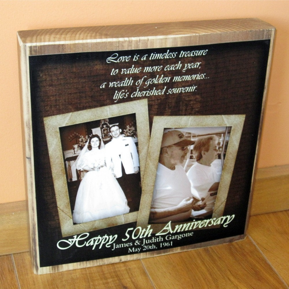 Gifts For Wedding Anniversaries: 50th Wedding Anniversary Gift PERSONALIZED Photo COLLAGE
