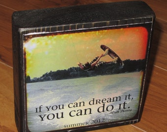 Personalized Larger Photo Quote Blocks- instead of a BIRTHDAY card- per block price