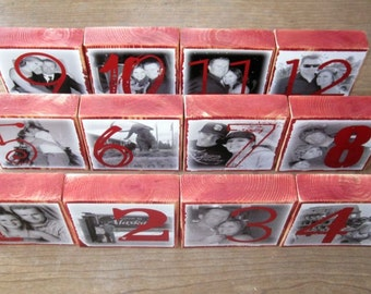 Personalized TABLE Numbers-set of 30 LARGE Photo Blocks