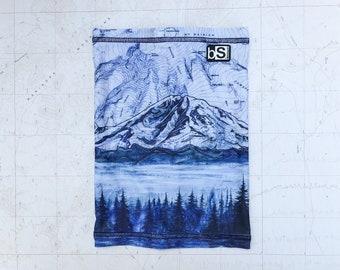 Mt Rainier Snow Neck Tube, warm neck gaiter for snow sports, skiing, snowboarding, snowshoeing, snowmobiling, sport neck scarf