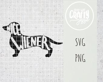 Nice Weiner Dachshund Dog SVG Cut File Cricut Silhouette