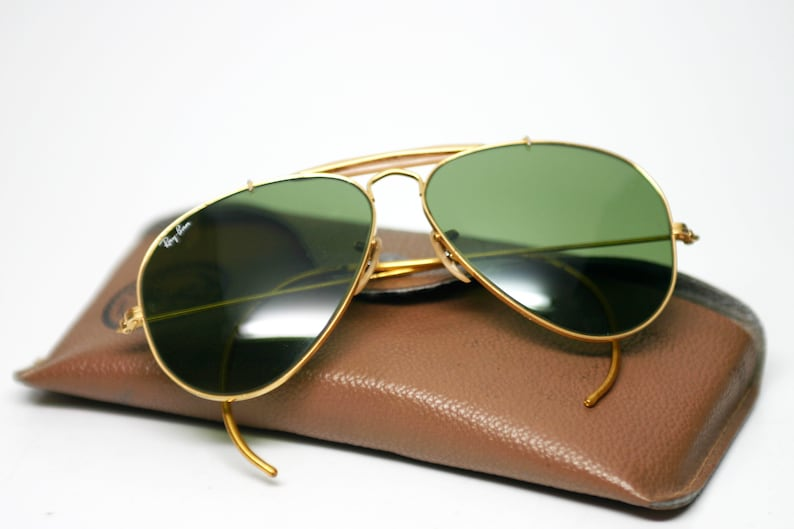 e06b5663127d8 Vintage Ray Ban Aviator Outdoorsman lunettes de soleil Gold