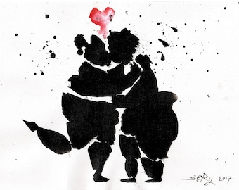 Paintings- cuddly love