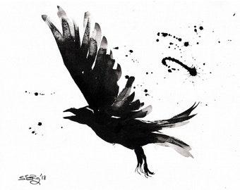 Paintings- birds, ravens
