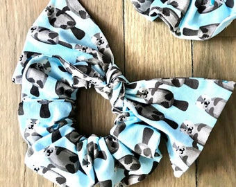 Scrunchie | Otter Scrunchies | Sea Life Scrunchies | Scarf Scrunchies | Bow Tie Scrunchies | Traditional Scrunchie | Animal Bow | STEM Style