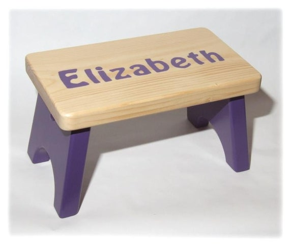 Amazing Personalized Childrens Wood Stool Or Bench Short Links Chair Design For Home Short Linksinfo