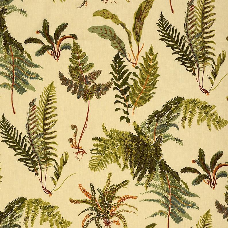 Schumacher Les Fougeres Antique Linen Yardage  New Fabric  image 0