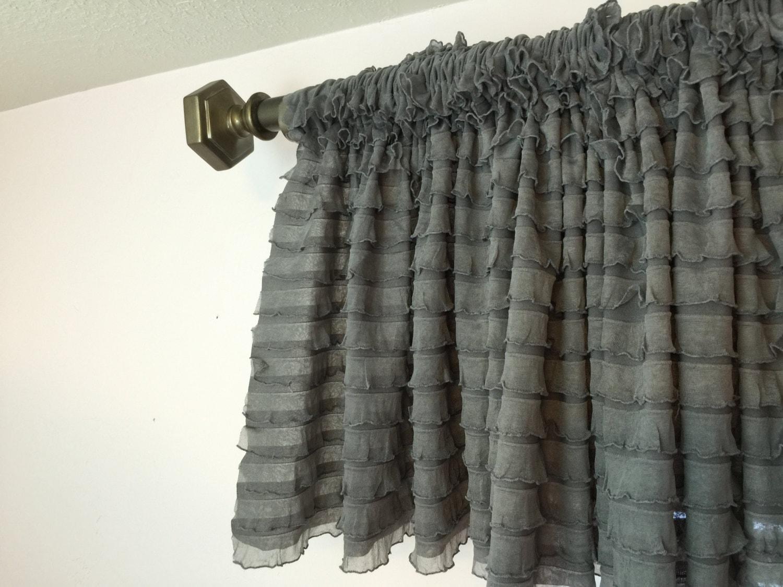 Volant grau grau Volant Erker Vorhänge Extra breiten | Etsy