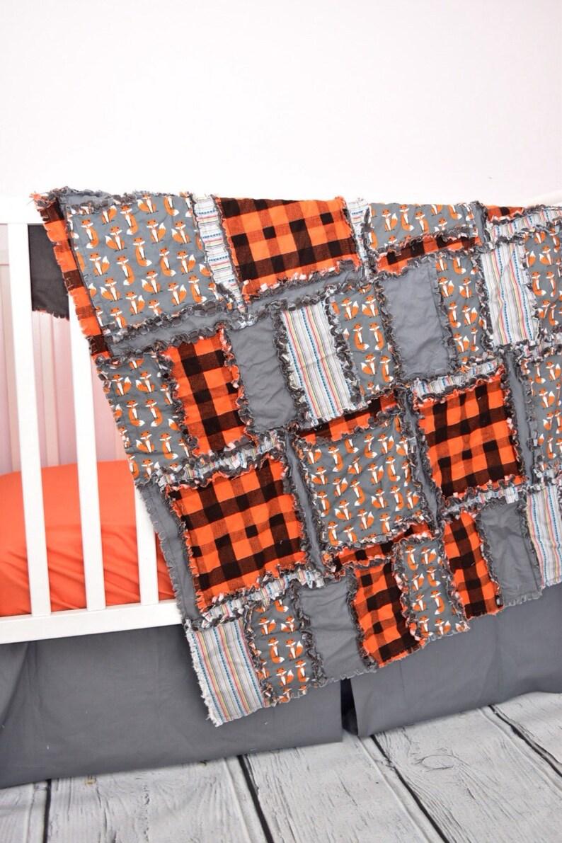 Renard lit literie chambre denfant Woodland Orange / gris | Etsy