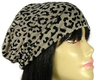 483c0913c695 Womens Leopard Lightweight Sweater Knit Reversible Black Lightweight Slouchy  Beanie Slouchy Beanies for Women All Seasons Sweater Knit Hat