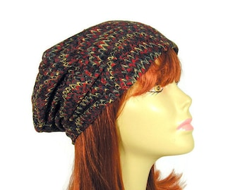 44366251b7c Hats for Women Lace Slouchy Beanie Paisley Print Boho Slouch Hat Lace Mesh Slouchy  Hat Boho Lightweight Slouchy Beanie Burgundy Paisley Hat