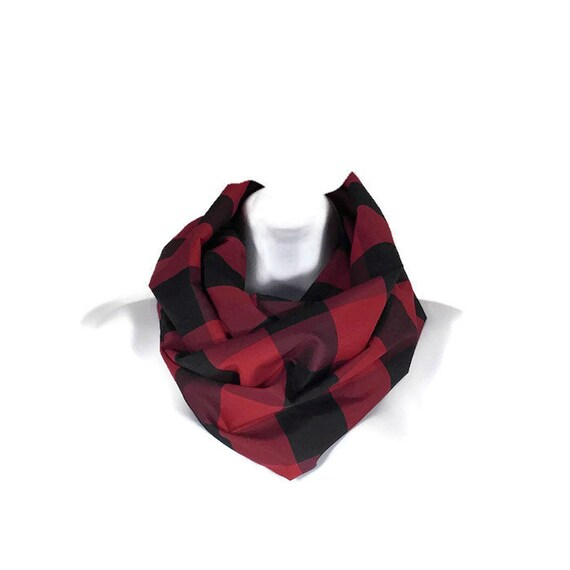 45436bb56ea2 Buffle rouge et noir cocher foulards Buffalo Taffeta Plaid   Etsy