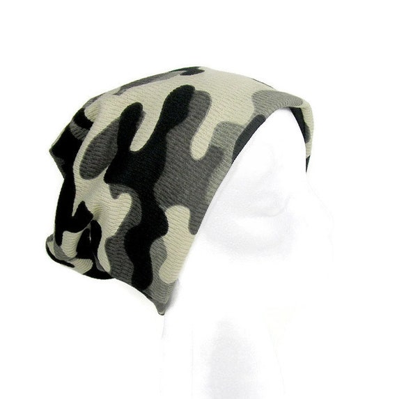 38d6c6c9cd5 CUSTOM SIZE Lined Reversible Camouflage Slouch Hat All Seasons
