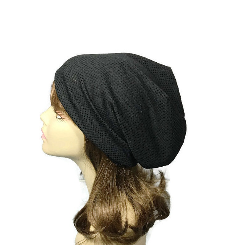 dc2320d0e9f Black Mesh Slouchy Beanie Athletic Mesh Slouchy Hat Unisex