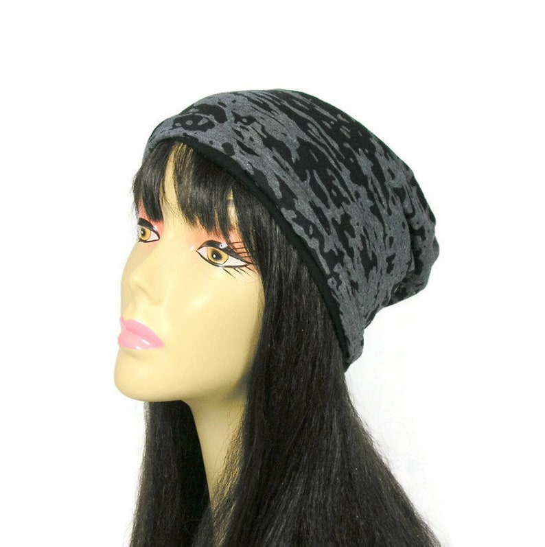550fef4e628 CUSTOM SIZE Lightweight Gray and Black Slouch Hat Gray and