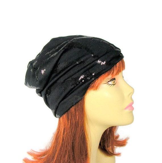 Sequin Hats Black Sequin Beanie Hats for Women Black Beanie  d72a4dd0d72