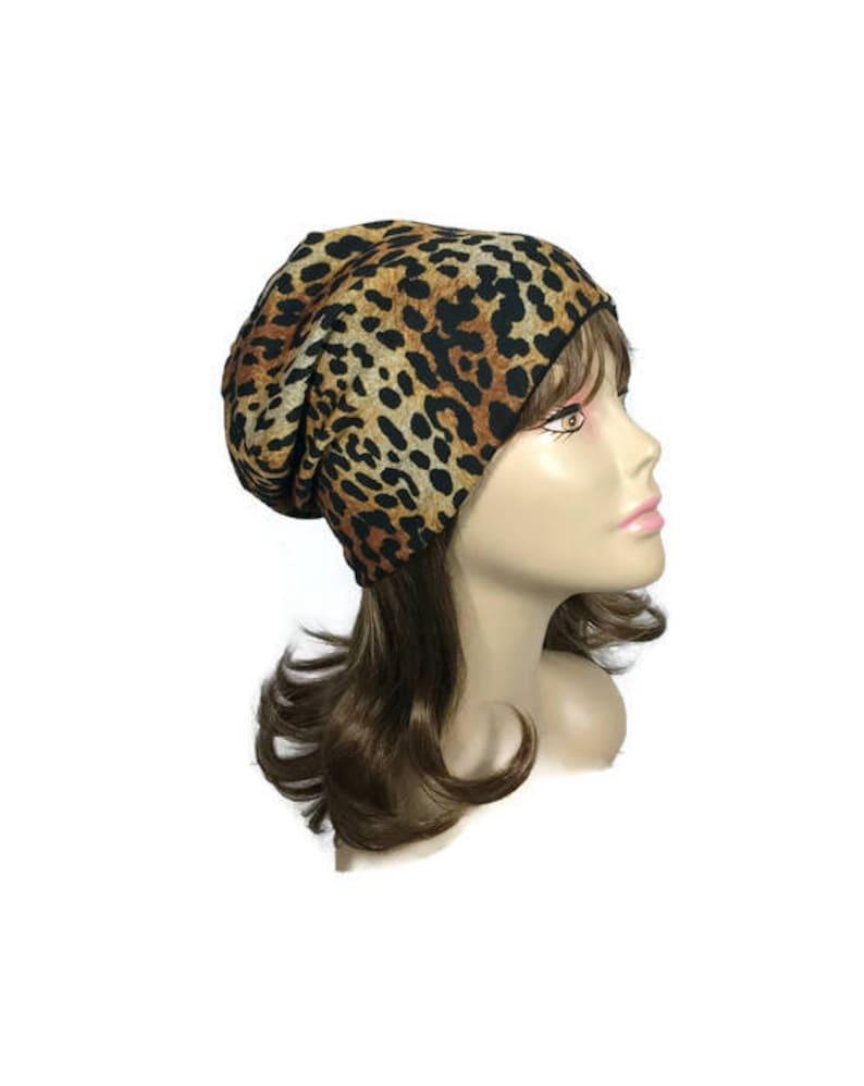 fccac051510e Leopard Slouchy Beanie Leopard Turban Leopard Print Sweater | Etsy