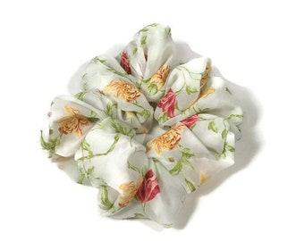 Spring Scrunchie Hair Tie Floral Scrunchie Summer Scrunchie Women's Scrunchie Retro Scrunchie 90's Scrunchie Organza Scrunchie Free Shipping